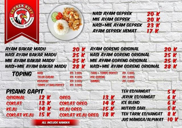 Anda Hoby Kuliner Mampir Di Warung Ayam Goreng Geprek Kuyy