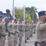 BANTU PENGAMANAN PON XX DI PAPUA, POLDA GORONTALO KIRIMKAN 101 PERSONEL BRIMOB