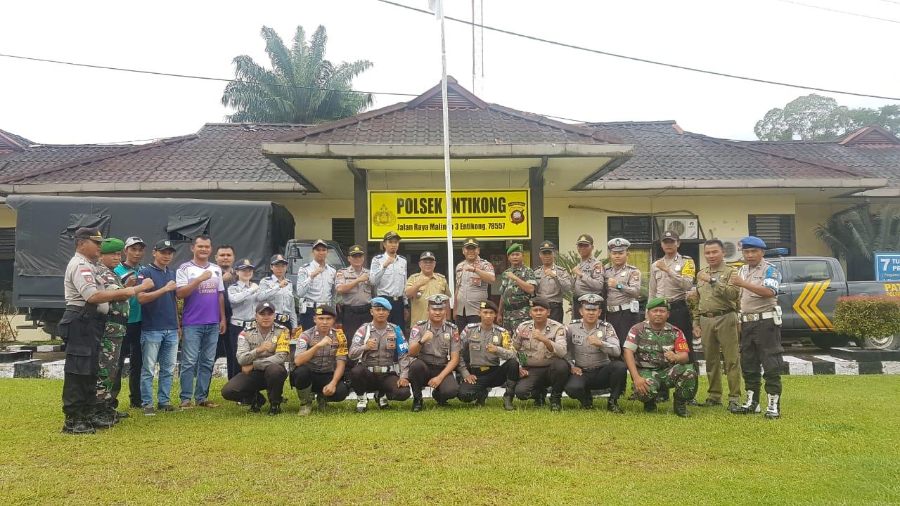 Apel Gabungan Satgas Siaga Bencana Banjir, Puting Beliyung & Longsor (Batingsor) Kec. Entikong Kab. Sanggau Kalbar