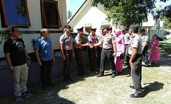 Kunjungi Polsek Gemeh, AKBP Alam Kusuma Irawan, SIK Kapolres Talaud Ingatkan Tugas Pokok