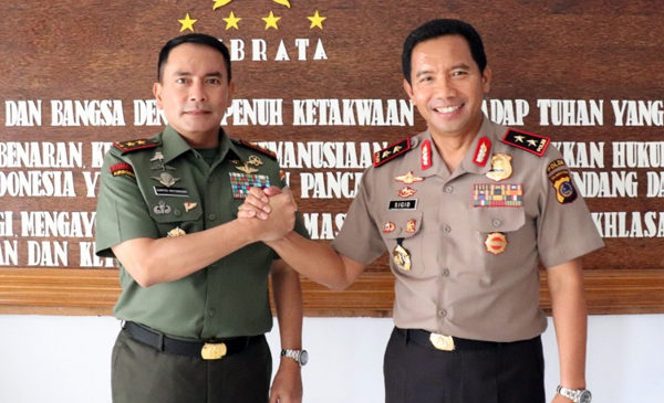 Pangdam XIII/Merdeka Silaturahmi Bersama Kapolda Sulawesi Utara (Sulut)