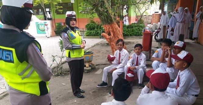 Police Goes To School, Pesonel Satlantas Polres Penajam Ajak Pelajar Tertib Berlalu Lintas