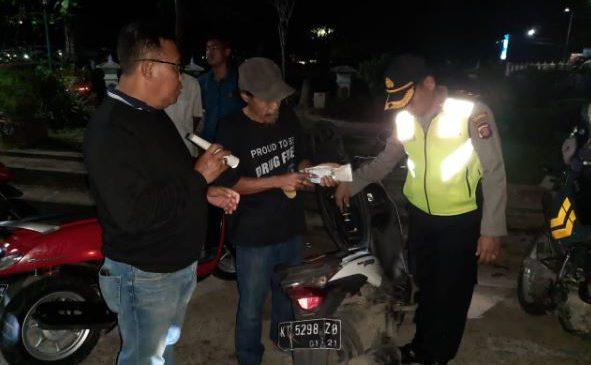 Cegah Balapan Liar & Begal, Polsek Balikpapan Selatan Gelar Razia Malam