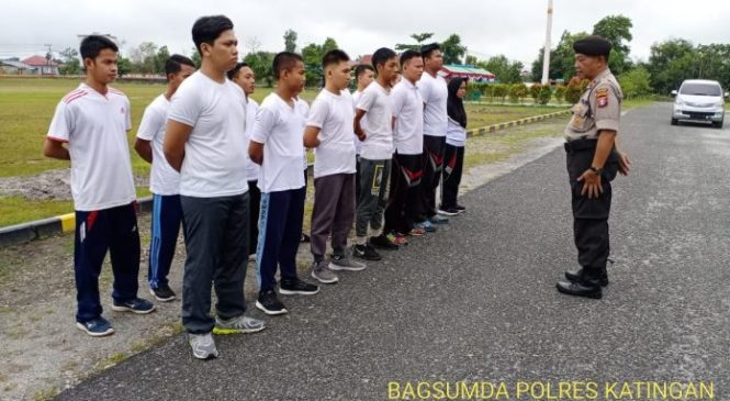 Ingin Menjadi Polisi, 15 Peserta Ikuti Pembinaan & Latihan Calon Anggota Polri Di Polres Katingan