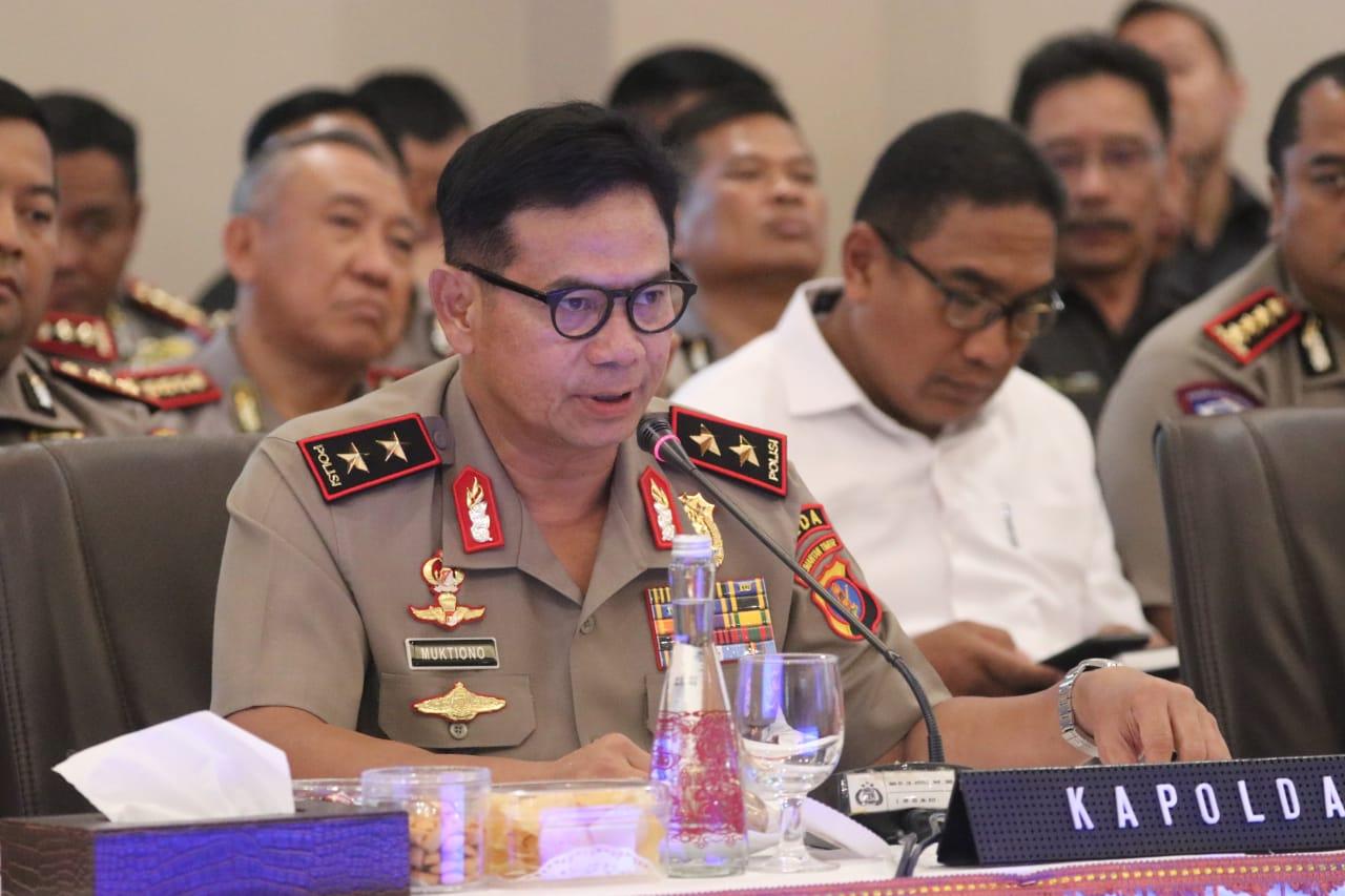 Terima Kunjungan Kerja Anggota Komisi III DPR RI, Kapolda Paparkan Kinerja & Keberhasilan Polda Kaltim