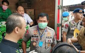 Hari Kedua PSBB, Kapolda Metro Jaya Pantau Check Point Pasar Jum'at Jakarta Selatan