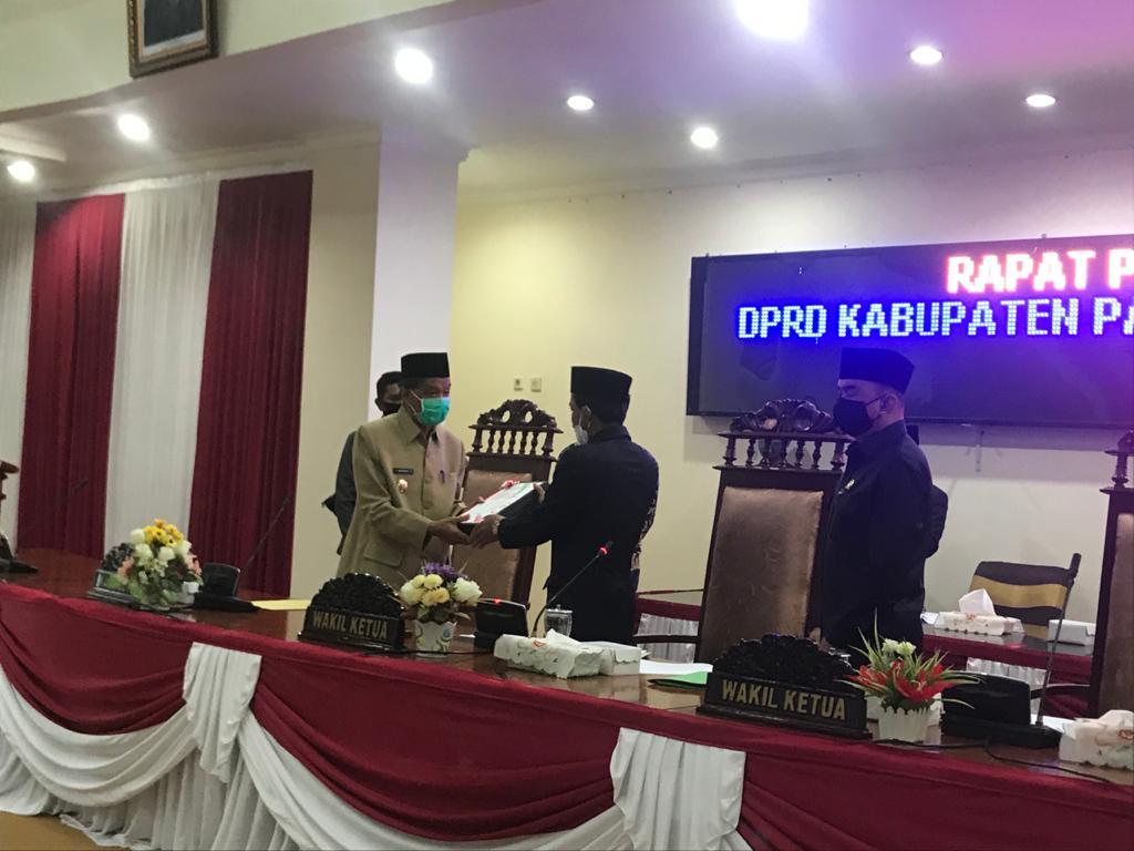 DPRD Terima LKPj Bupati Kabupaten Paser Tahun 2019