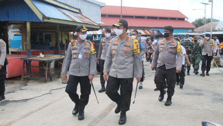 Penerapan New Normal di Gorontalo, Kapolda Gorontalo Bersama Rombongan Cek Sarana Perniagaan