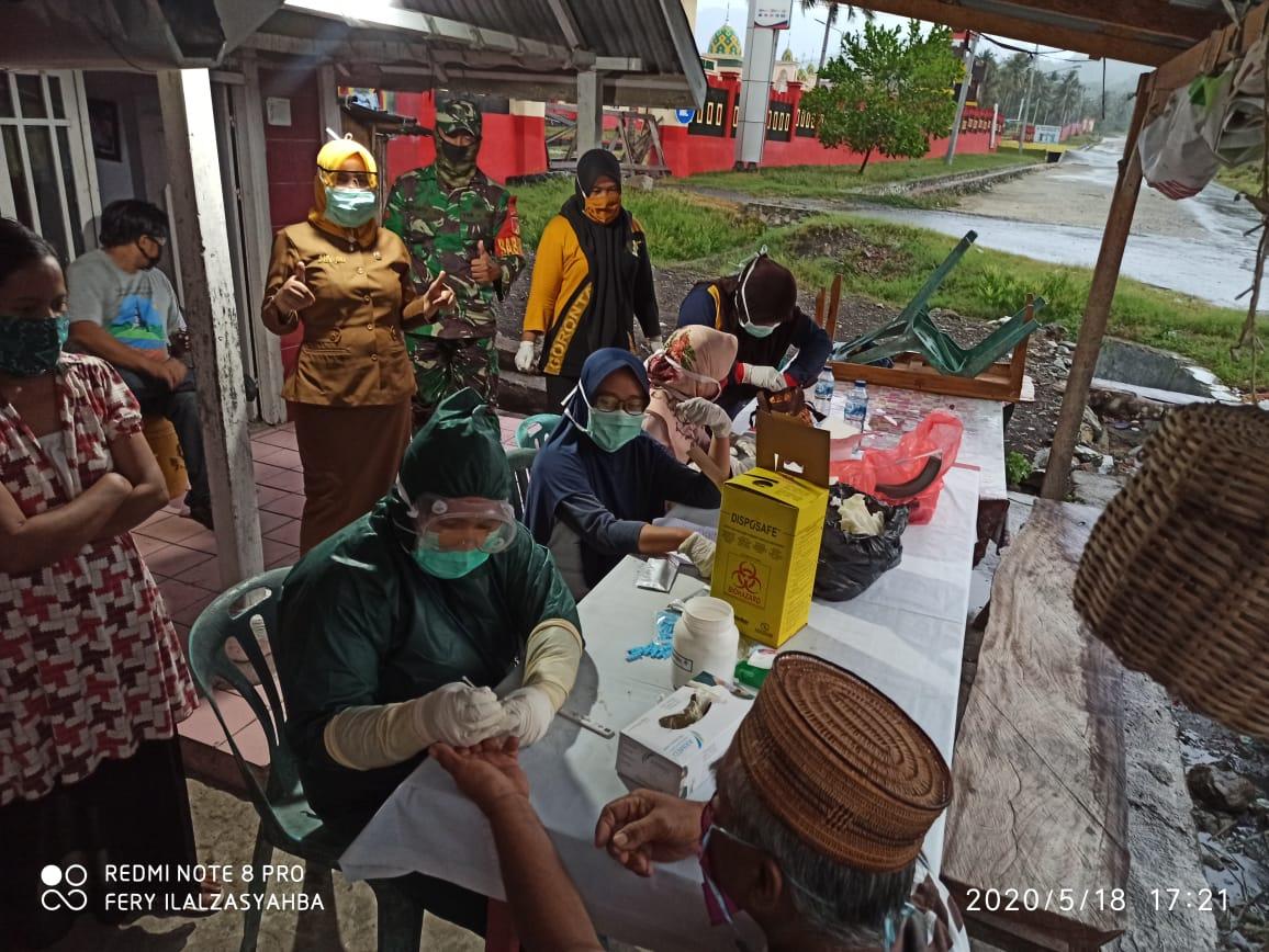 30 Orang Warga Kecamatan Tabongo Kabupaten Gorontalo Jalani Rapid Test, 1 Orang Reaktif