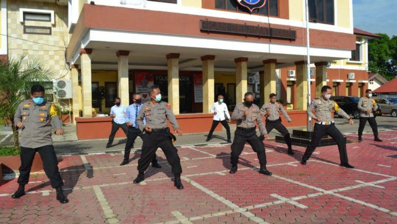 Cegah Penyebaran Covid-19, Kapolres Paser AKBP Murwoto, S.H., SIK Himbau Personelnya Agar Tetap Memperhatikan Protokol Kesehatan