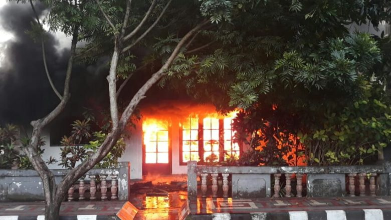 Satu Rumah di Tidore Tahuna Hangus Dilalap Api, Penghuni Asik Ngobrol Dengan Tetangga Saat Sedang Masak Air