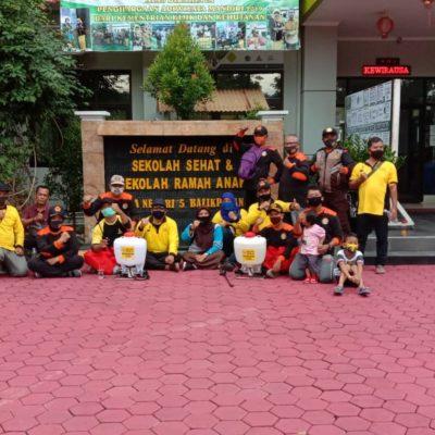 Gerakan Pramuka Kwartir Cabang Kota Balikpapan Masih Berperan Pada Kegiatan Penyemprotan Desinfektan