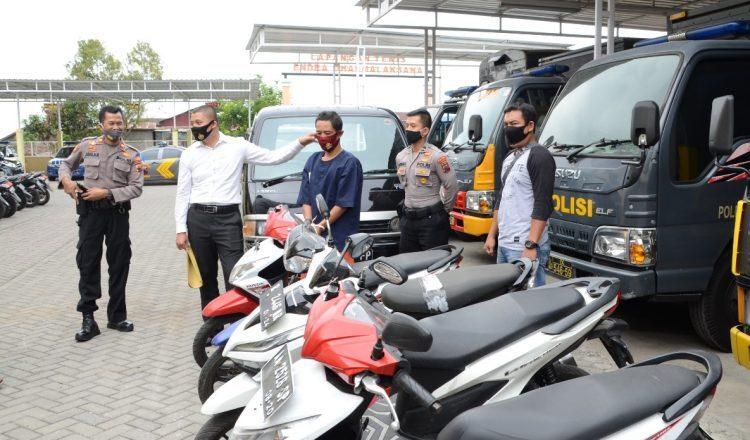 Polres Wonosobo Berhasil Tangkap SF (40) Pencuri Empat Sepeda Motor