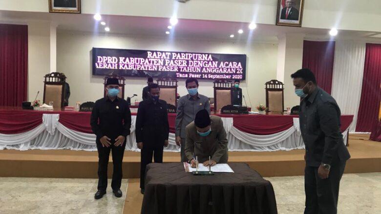 APBD-Perubahan 2020 Kabupaten Paser Disahkan Menjadi Perda