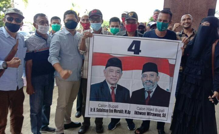 Pasangan Ir. H. Sulaiman Eva Marukh, M.Ap & Ikhwan Wirawan, S.E Dapat Nomor Urut 4, Cabub & Cawabub Kabupaten Paser