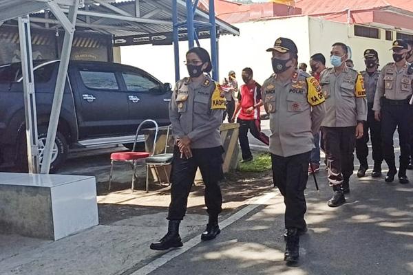 Kunjungi Polres Minut, Kapolda Sulut Tekankan Pelaksanaan Operasi Mantap Praja & Pencegahan Covid-19