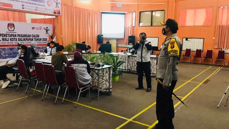 Kapolresta Balikpapan Pimpin 300 Personil Pengamanan Rapat Pleno Penetapan Paslon Pilkada Balikpapan 2020
