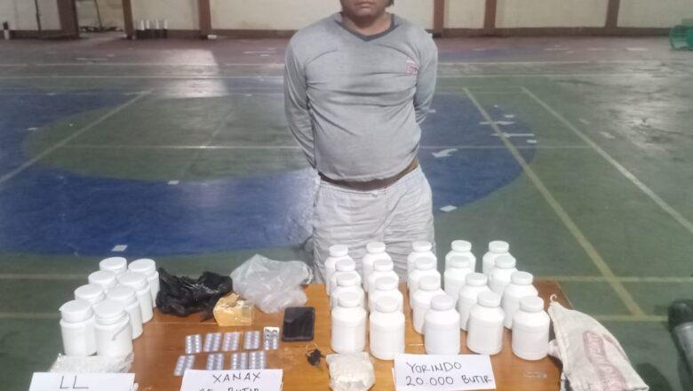 Sat Res Narkoba Polres Paser Berhasil Amankan ES (42) Seorang Pria Pelaku Penjual Obat Keras