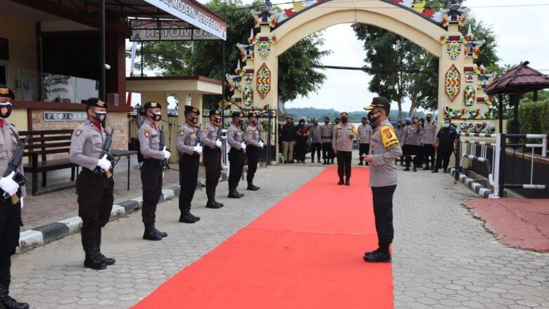 Kapolda Kaltim Irjen Pol. Drs. Herry Rudolf Naha, M.Si Kunjungan Kerja di Polres Kutai Kartanegara