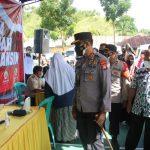 Kapolda Gorontalo Irjen. Pol. Dr. Akhmad Wiyagus, SIK., M.Si., M.M, Tinjau Gerai Vaksin Di Kabupaten Gorontalo, Ajak Masyarakat Patuhi Prokes