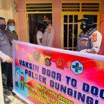 Polsek Dungingi Gorontalo Kota Lakukan Percepatan Vaksinasi Door to Door